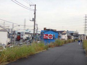 矢向付近で鶴見川CRを離脱し、川崎駅方面へ