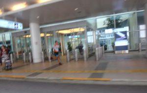 ターミナル前を再びマラニックの坊主氏。徐行する自転車に併走するほどのデュアル・アスリート。