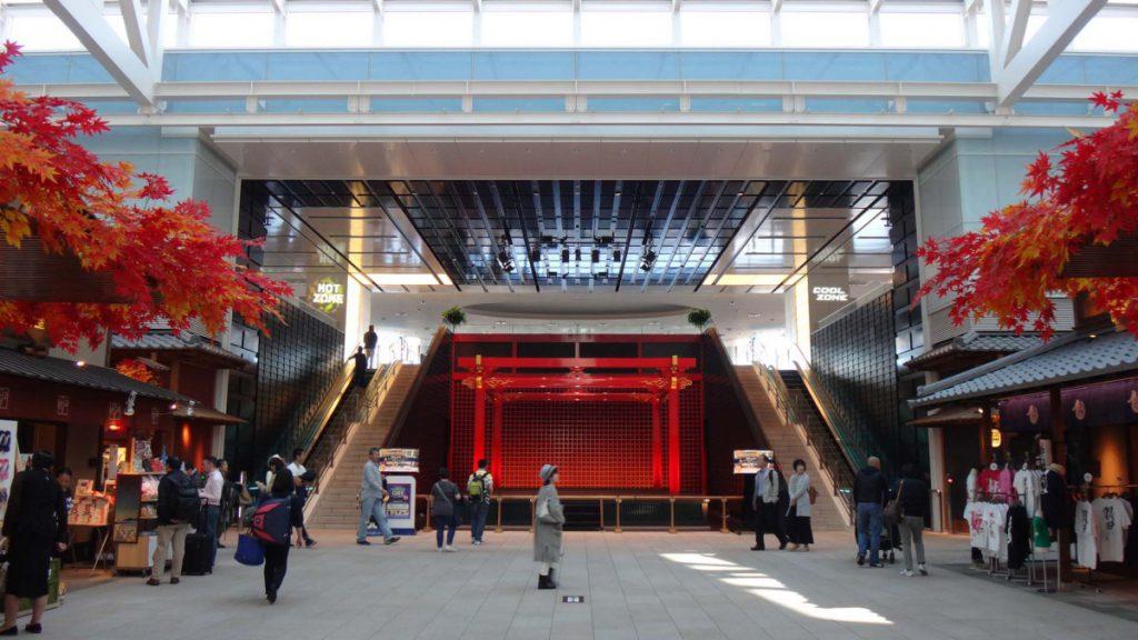 国際線ターミナル正面のイベント広場