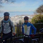 富士山を撮りながら休憩